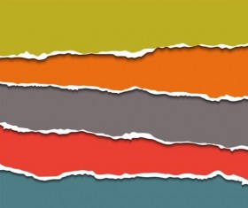 Ripped open paper stripes background vector 12