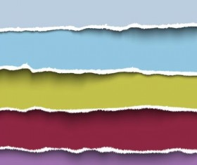 Ripped open paper stripes background vector 14