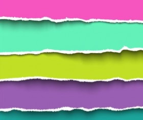 Ripped open paper stripes background vector 15