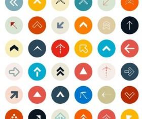 Round arrow icons set 01