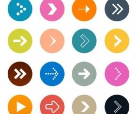 Round arrow icons set 02