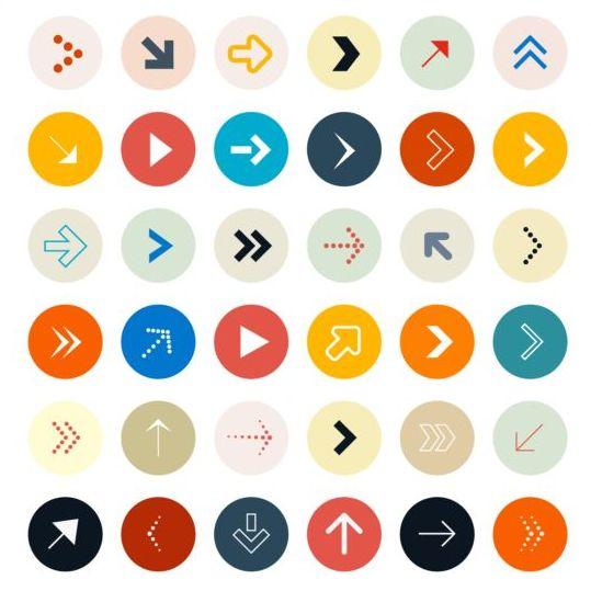 Round arrow icons set 03