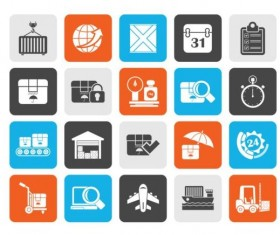 Rounded square express delivery icons 01