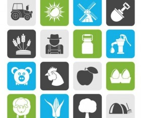 Rounded square farm icons