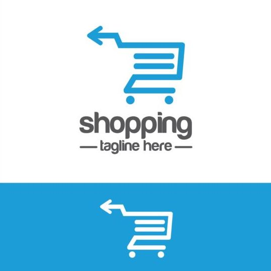 Shopping cart logo vector material 03