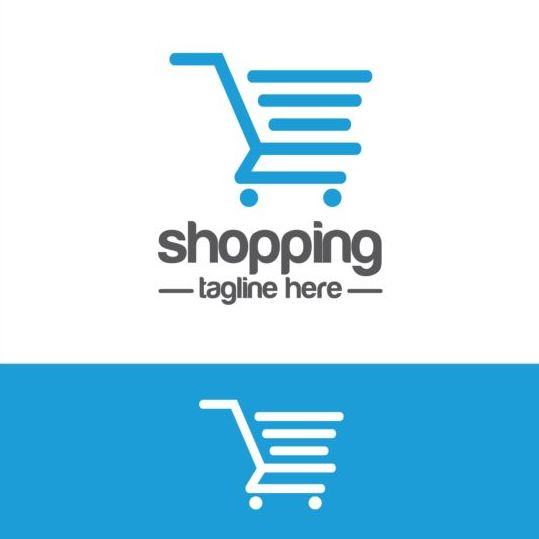 Shopping cart logo vector material 04