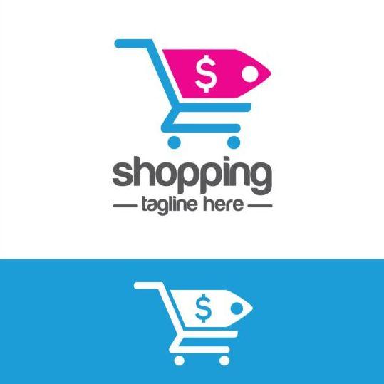 Shopping cart logo vector material 08
