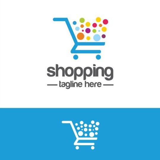 Shopping cart logo vector material 09