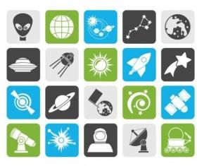 Sstronomical icons set