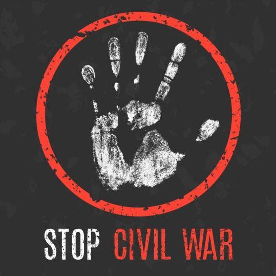 Stop Civil War sign vector