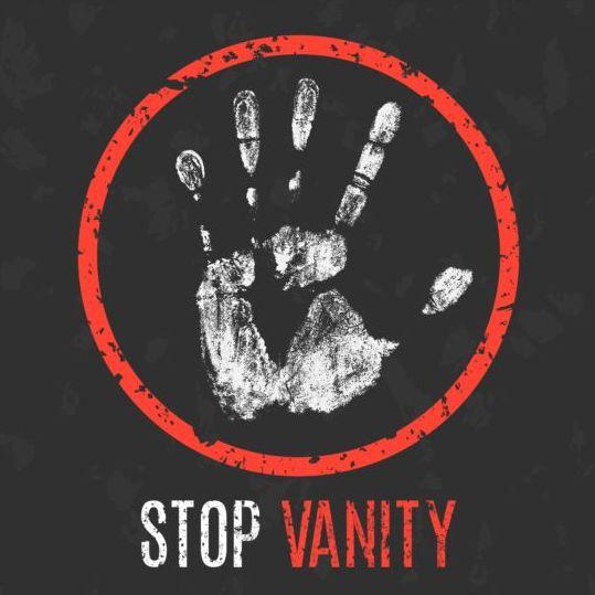 Stop Vanity sign vector