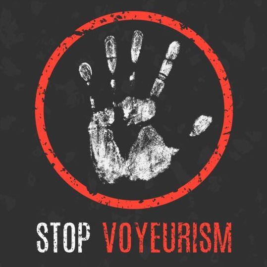 Stop Voyeurism sign vector