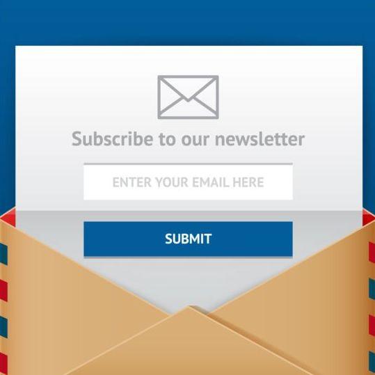 Subscribe web form vector icon 01