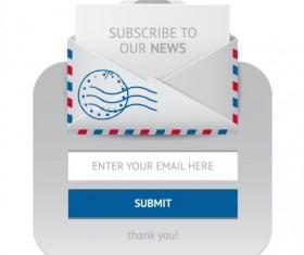 Subscribe web form vector icon 02