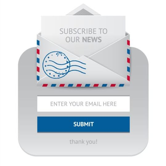 Subscribe web form vector icon 02