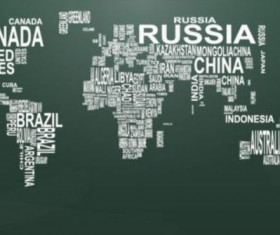 Text with world map vectors 02