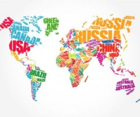 Text with world map vectors 03