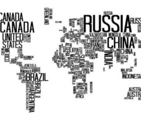Text with world map vectors 04