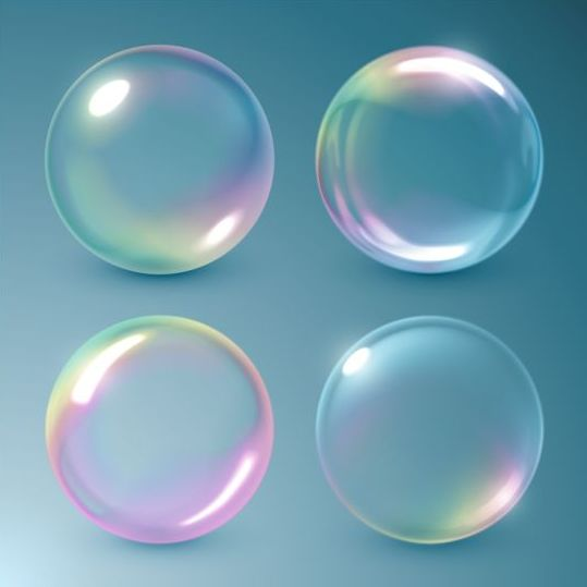 Transparent bubble vector illustration 01 free download