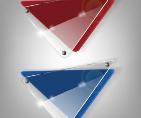 Triangle glass banner design vector 01