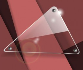 Triangle glass banner with abstract background vector