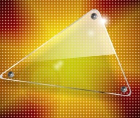 Triangle glass banner with star pattern vector