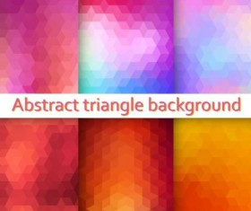 Triangle with blurs background vector 01