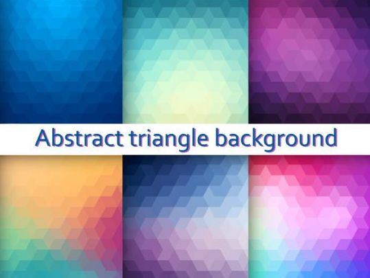 Triangle with blurs background vector 03