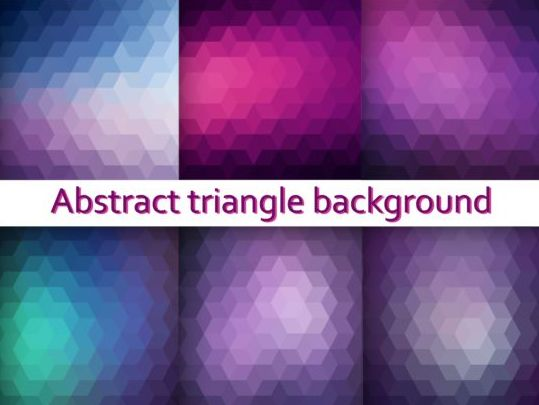 Triangle with blurs background vector 04