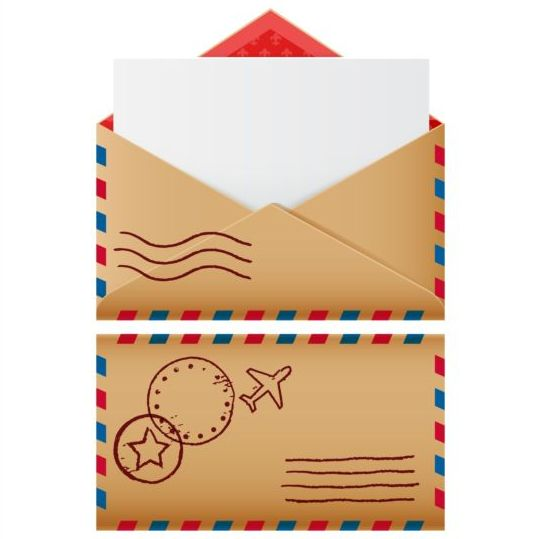 Two mail icons retro vector