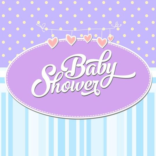 Vector Baby Shower Card Template Set   Vector Card Free Download