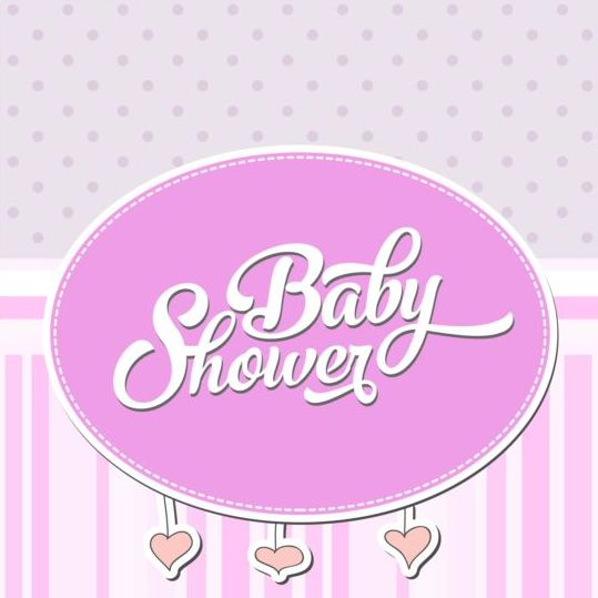 Vector Baby Shower Card Template Set 10 - Vector Card, Vector