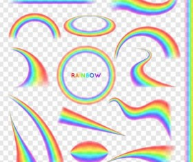 Vector rainbow illustration set 01