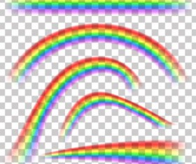 Vector rainbow illustration set 02