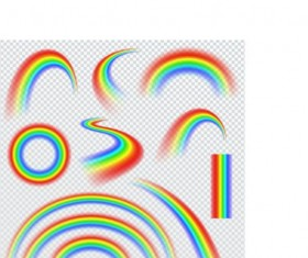 Vector rainbow illustration set 03