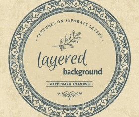 Vintage background with round frame vectors 03