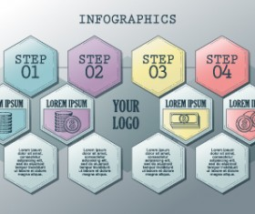Vintage banners infographic template vectors set 02