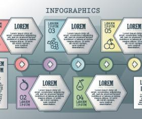 Vintage banners infographic template vectors set 03