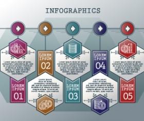 Vintage banners infographic template vectors set 04