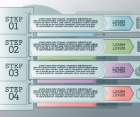Vintage banners infographic template vectors set 09