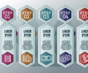 Vintage banners infographic template vectors set 11