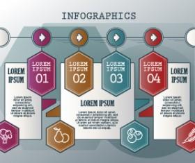 Vintage banners infographic template vectors set 13