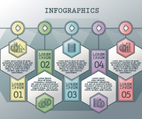 Vintage banners infographic template vectors set 15