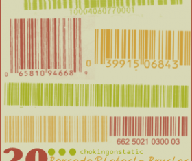 Vintage barcode photoshop brushes
