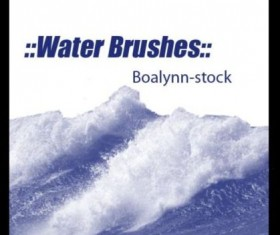 Water wavy PS brushes