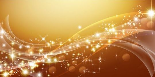 Wavy abstract background with star light vector 03