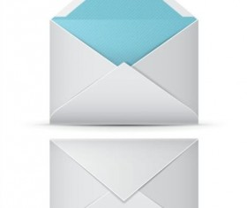 White envelope template vector