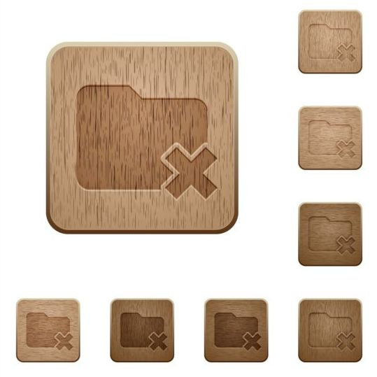 folder cancel wood textures icons