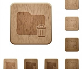folder delete wood textures icons