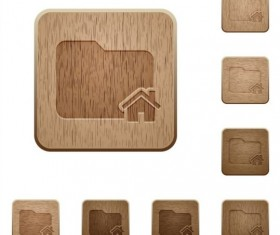 folder home wooden icons vector
